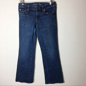 American Eagles Blue 6 Boyfriend Flare Boho Jeans